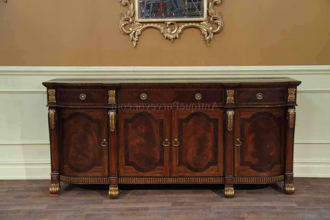 Mahogany Sideboard With Gold Leaf Accents For The Dining Room Regarding Gold Sideboards (View 14 of 20)