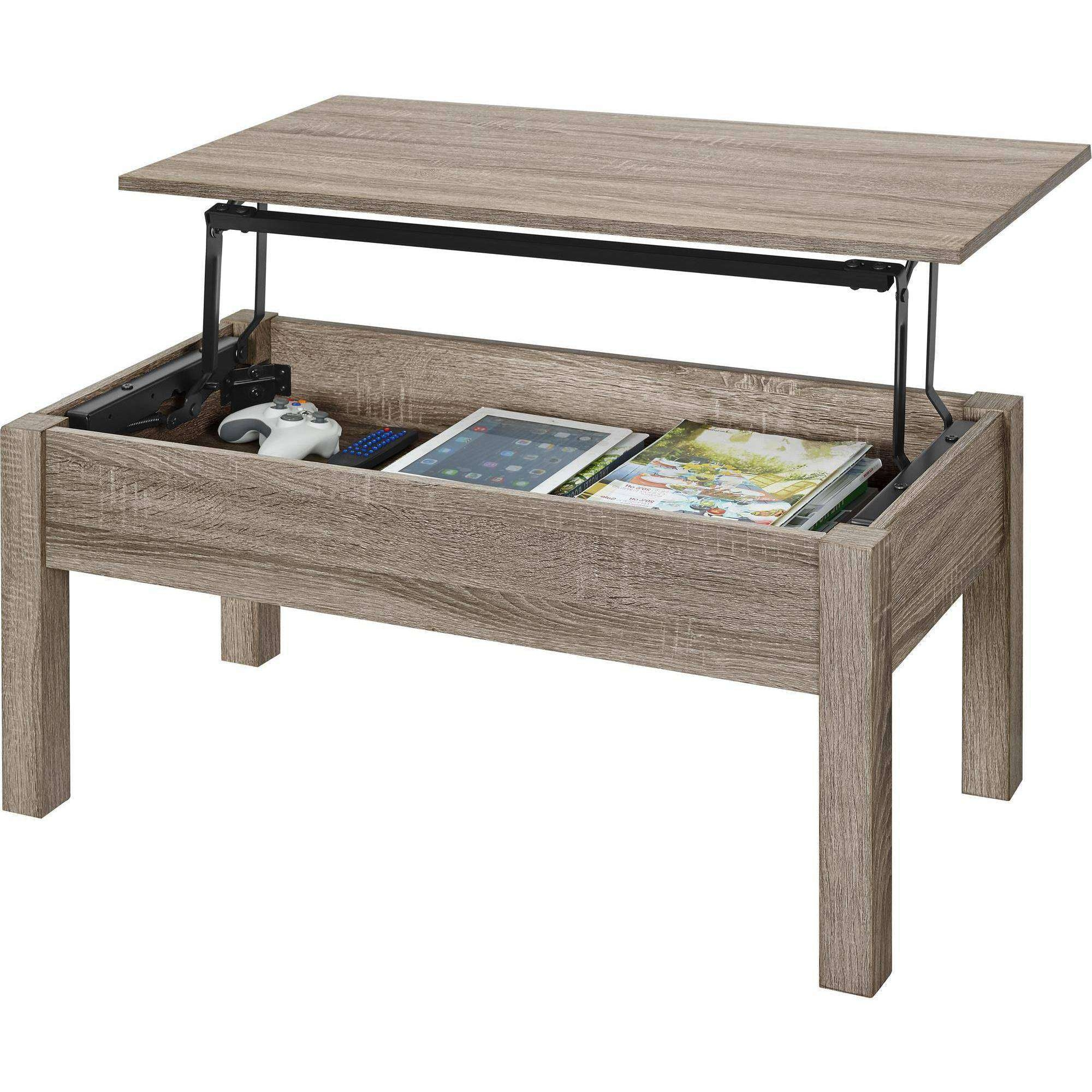 Mainstays Lift Top Coffee Table, Multiple Colors – Walmart For Most Recent Raise Up Coffee Tables (View 7 of 20)