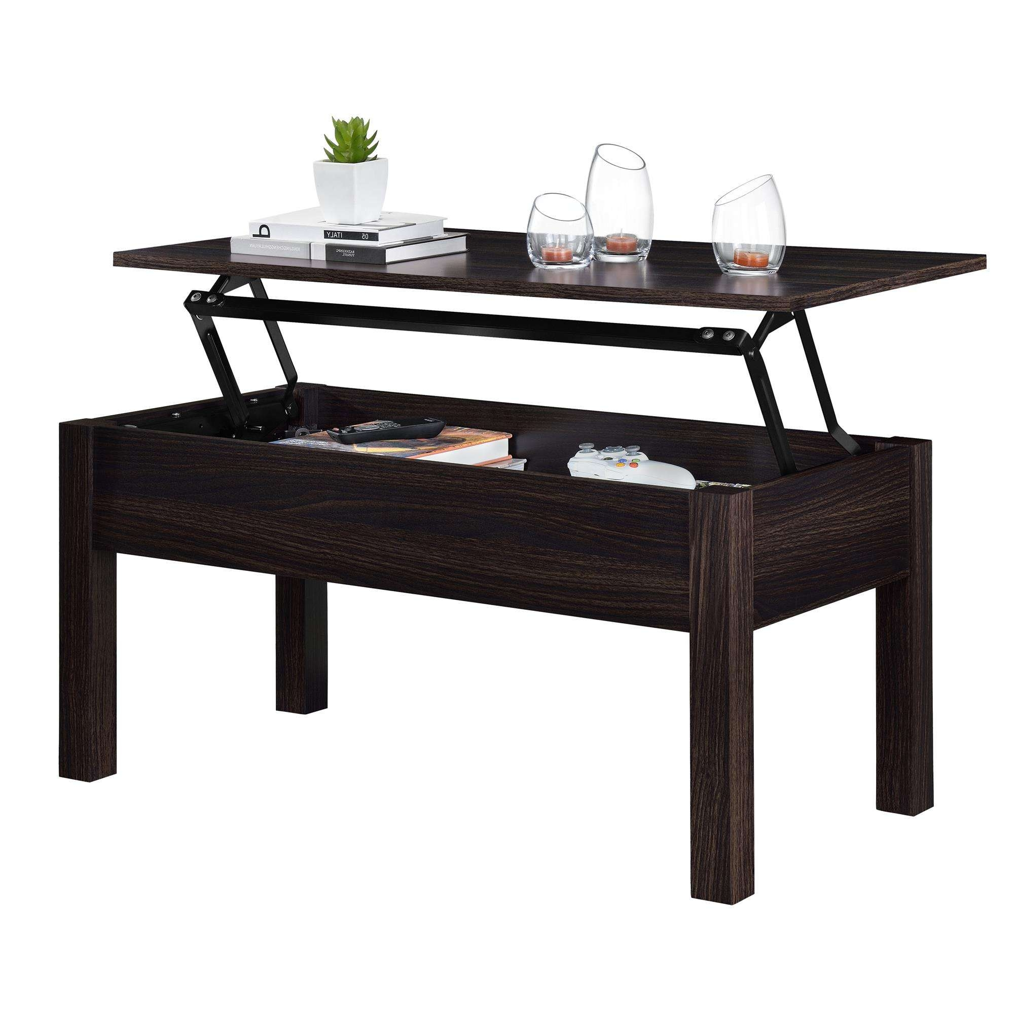 Mainstays Lift Top Coffee Table, Multiple Colors – Walmart In Recent Lifting Coffee Tables (View 6 of 20)