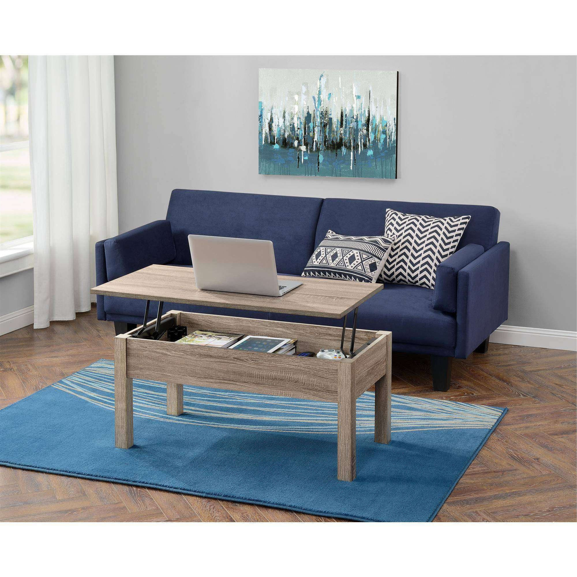 Mainstays Lift Top Coffee Table, Multiple Colors – Walmart With Most Recently Released Coffee Tables Extendable Top (View 12 of 20)