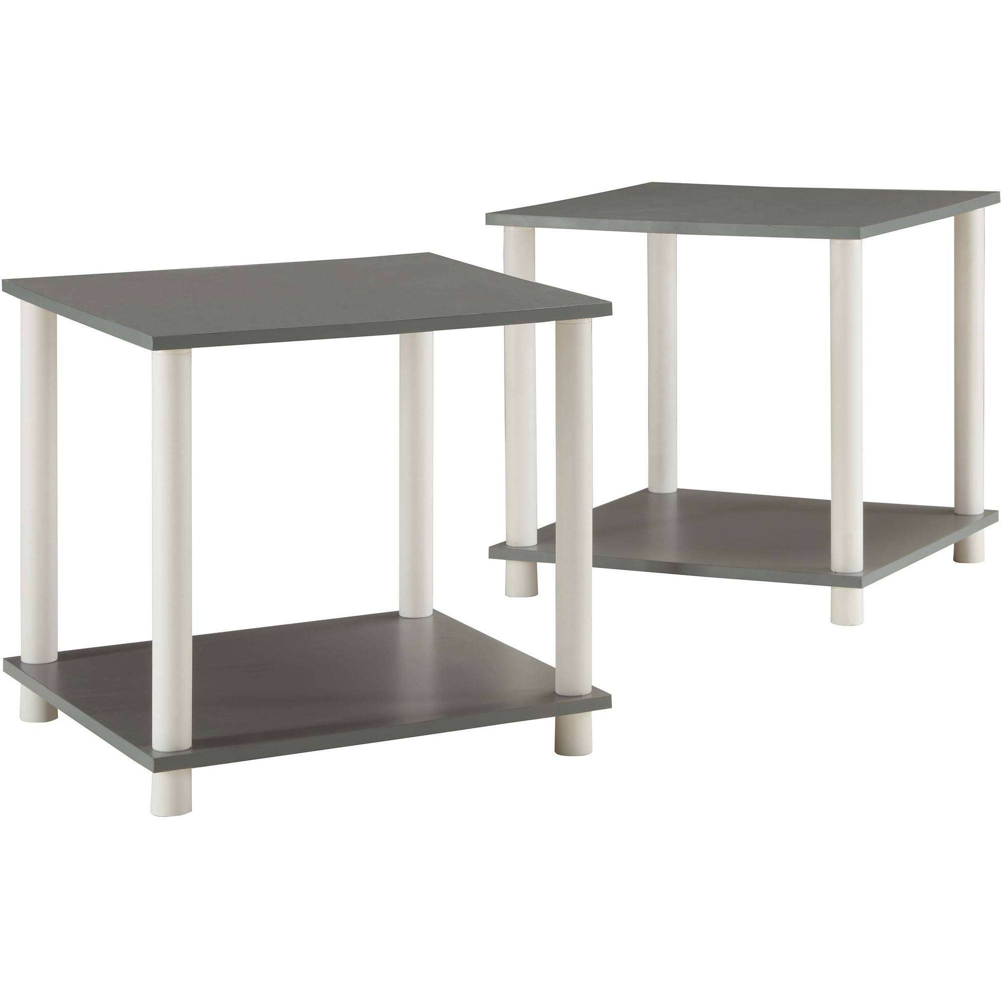 Mainstays No Tools Single Cube Storage Shelf Side Tables, Set Of 2 Pertaining To Current White Cube Coffee Tables (View 9 of 20)