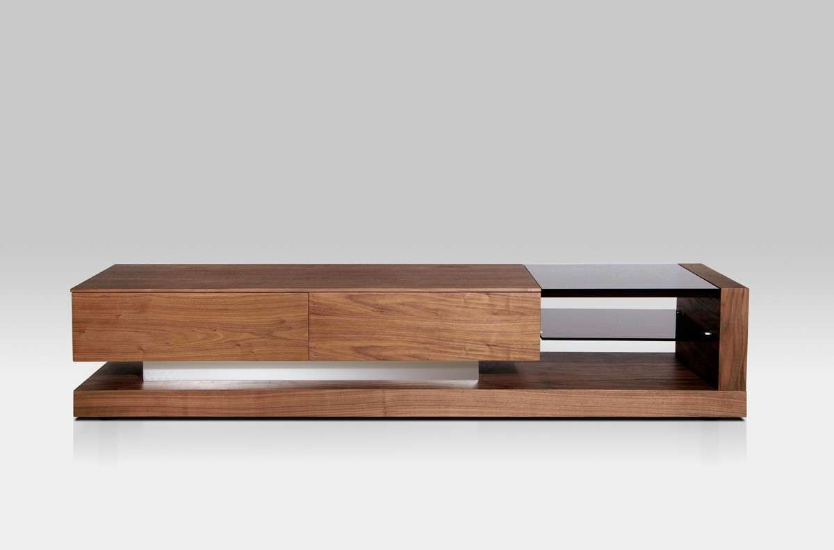 Mali Modern Walnut Tv Stand Throughout Walnut Tv Cabinets With Doors (View 12 of 20)