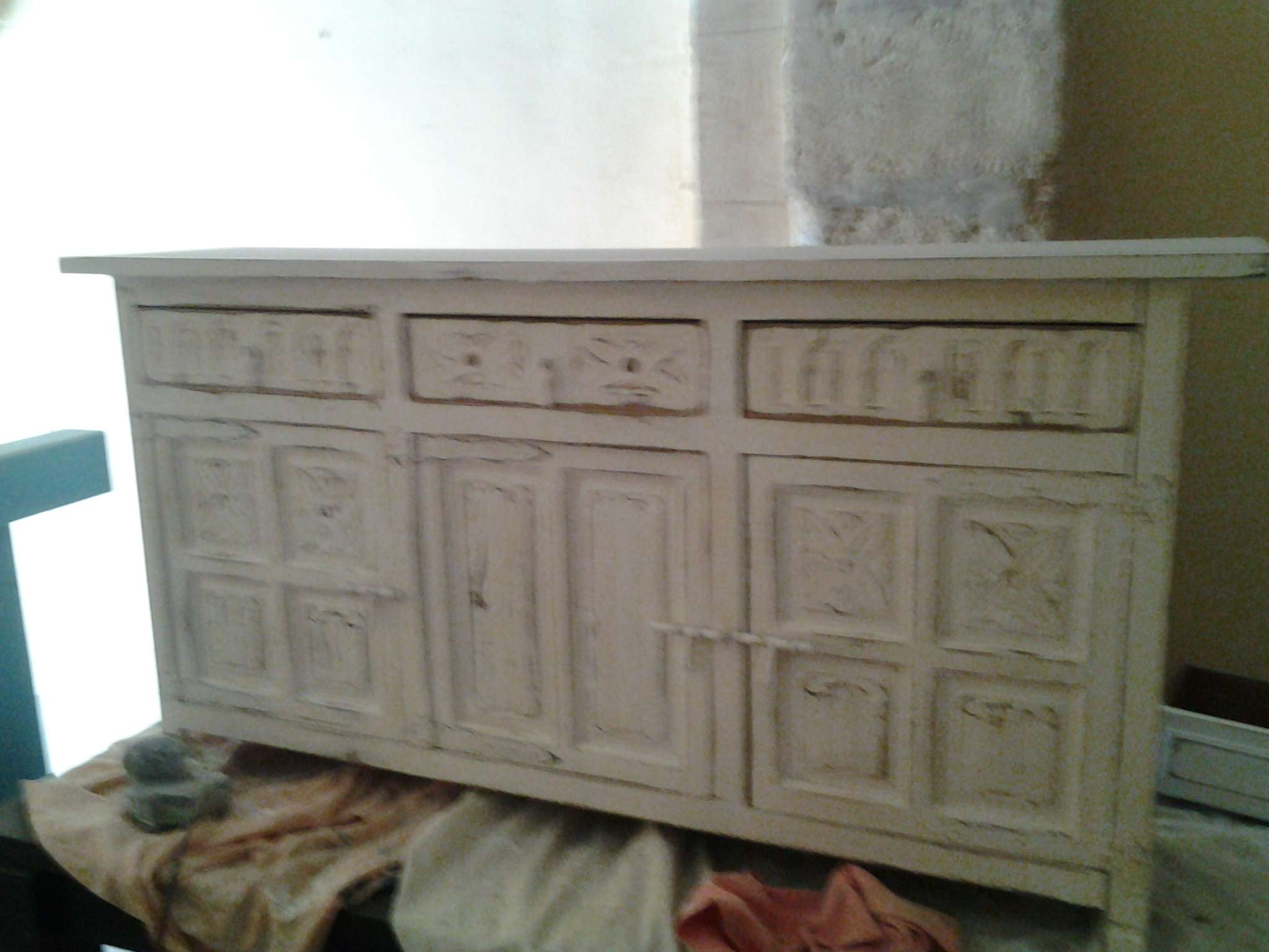 Mallorcan Distressed Sideboard 150Cms X 76 High X 36 Deep………445 With Deep Sideboards (View 10 of 20)