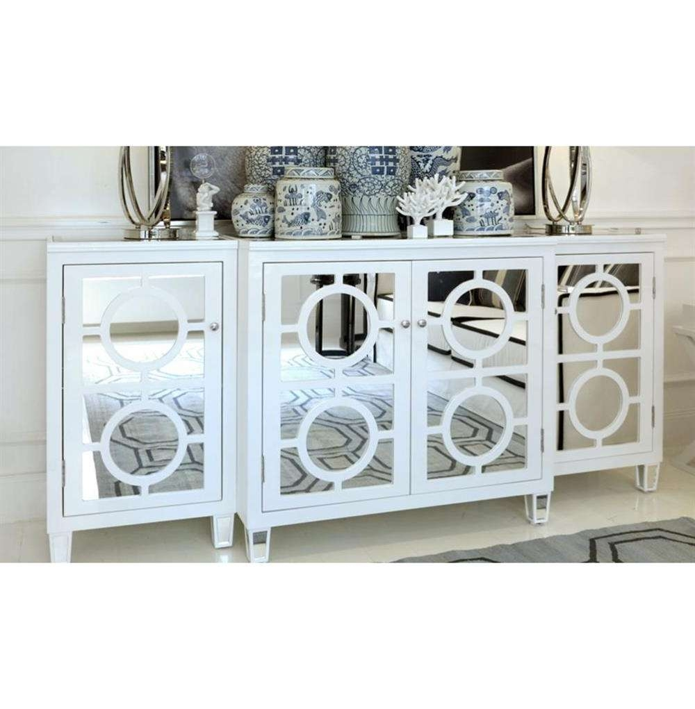 Malta Global Bazaar White Lacquer Mirror Buffet Sideboard | Kathy Throughout White Mirrored Sideboards (View 2 of 20)