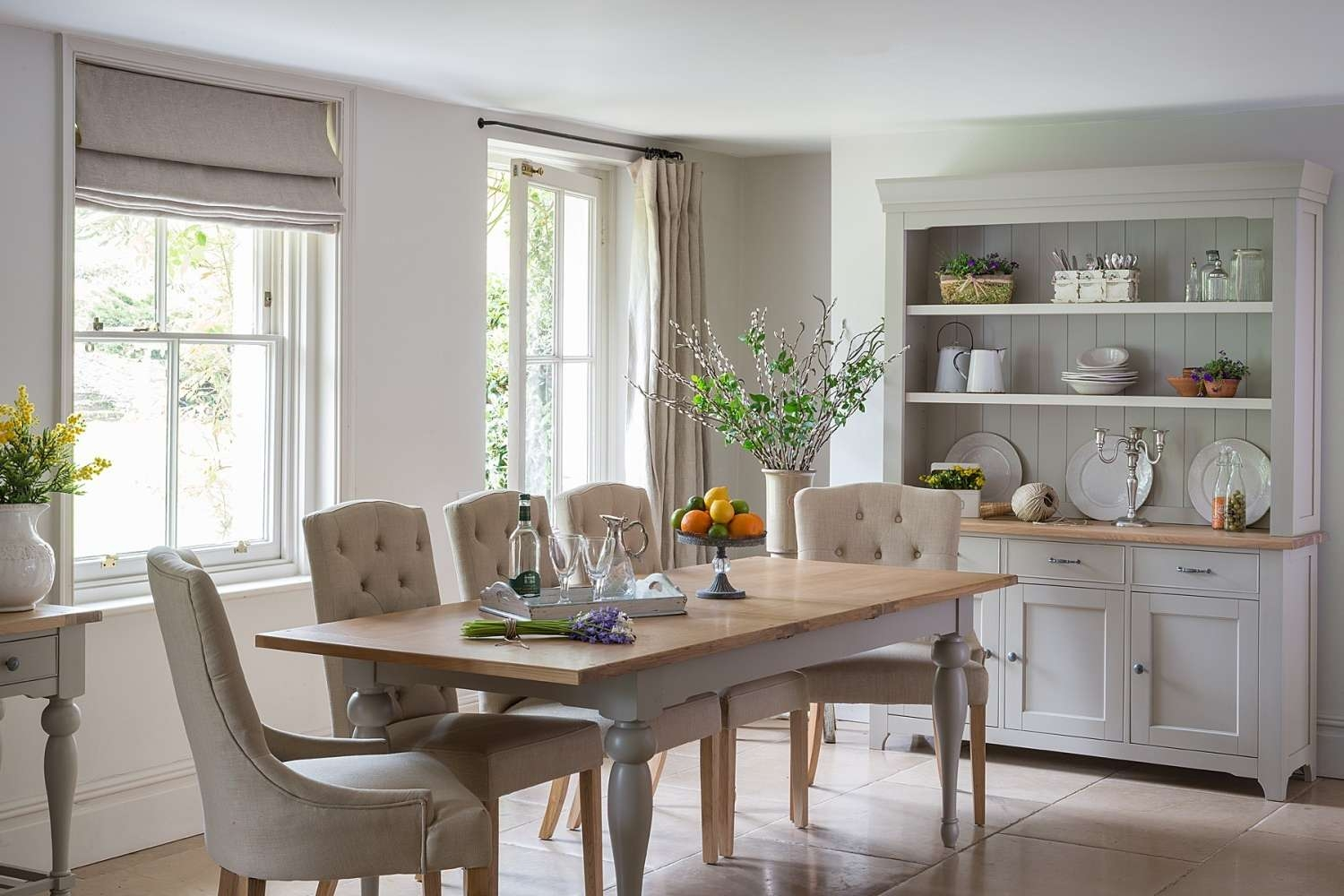 Malvern Extending French Dining Table – Crown French Furniture In Dining Room Sets With Sideboards (View 11 of 20)