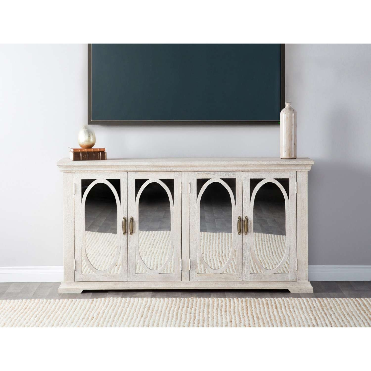 Manchester Wood Mirrored 70 Inch Sideboardkosas Home – Free Throughout 70 Inch Sideboards (View 9 of 20)