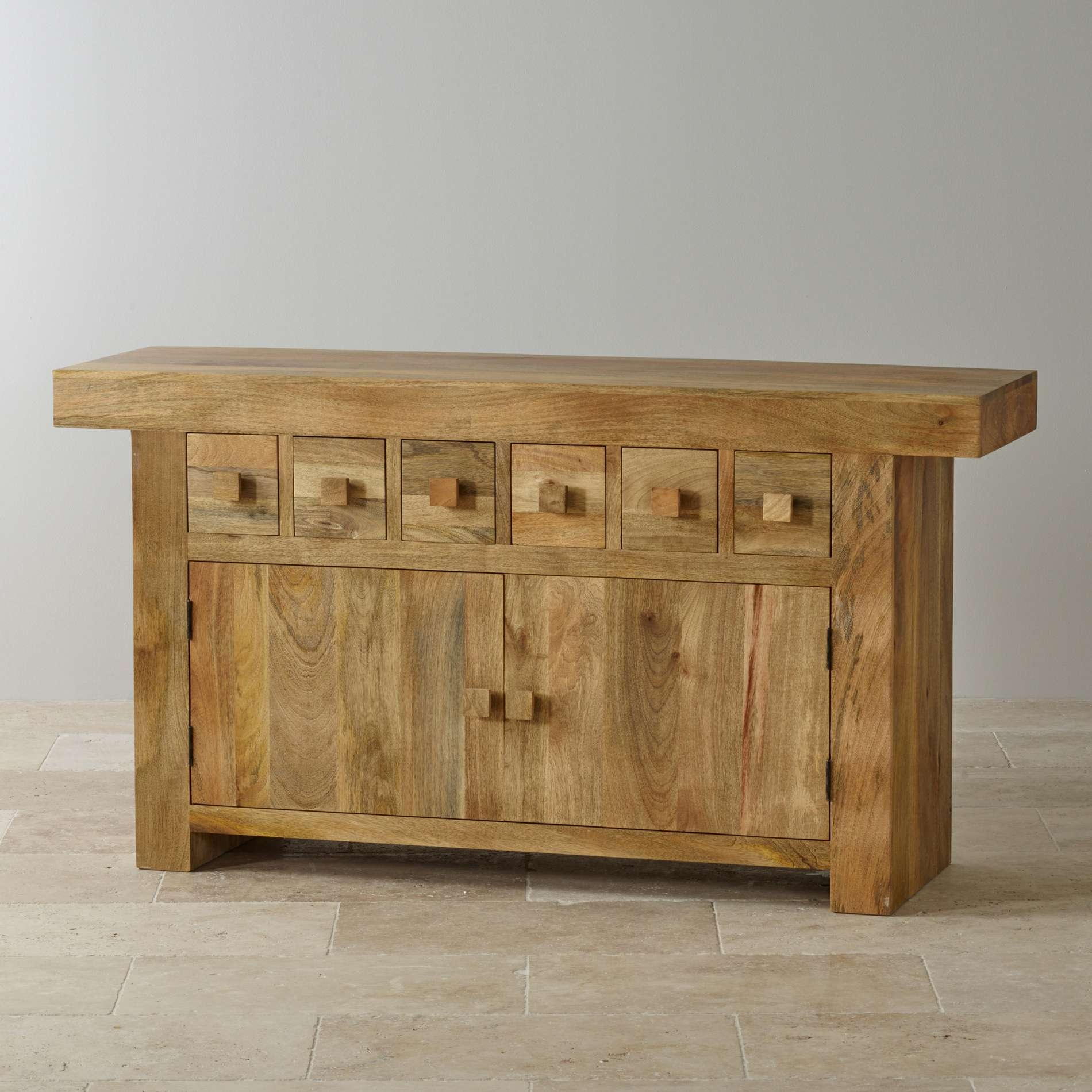 Mantis Light Large Sideboard In Natural Solid Mango Within Real Wood Sideboards (View 11 of 20)