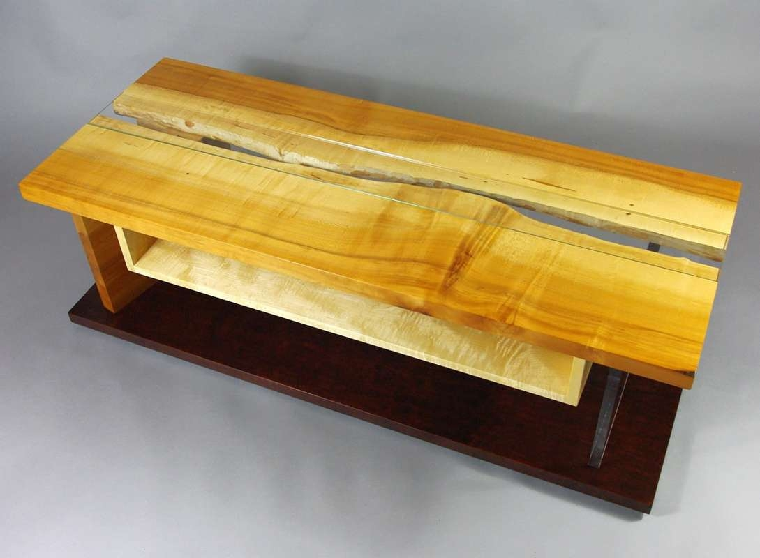 Maple Live Edge Slab Tv Cabinet – Rugged Cross Fine Art Woodworking For Maple Tv Cabinets (View 11 of 20)