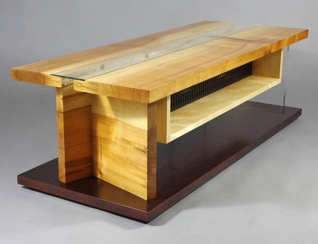 Maple Live Edge Slab Tv Cabinet – Rugged Cross Fine Art Woodworking Intended For Maple Tv Cabinets (View 12 of 20)