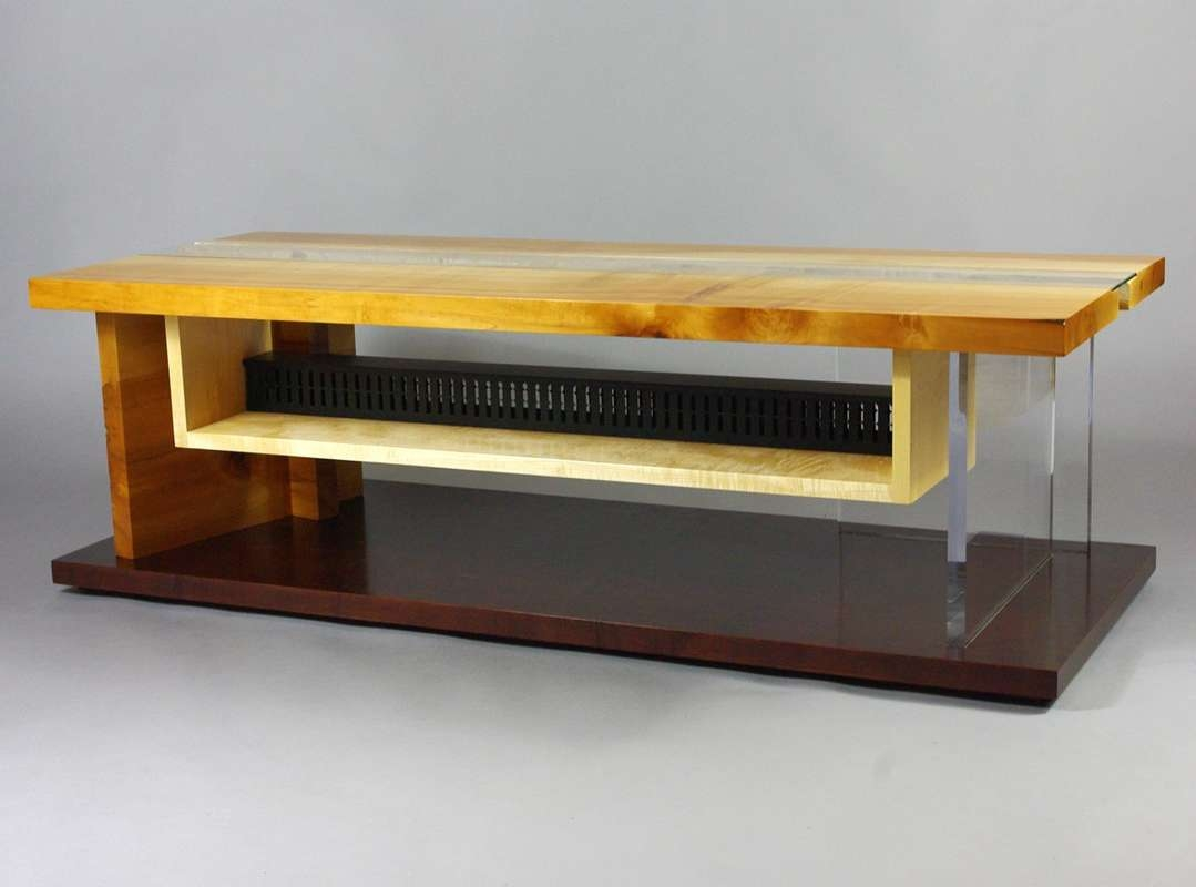 Maple Live Edge Slab Tv Cabinet – Rugged Cross Fine Art Woodworking Regarding Maple Tv Cabinets (View 13 of 20)