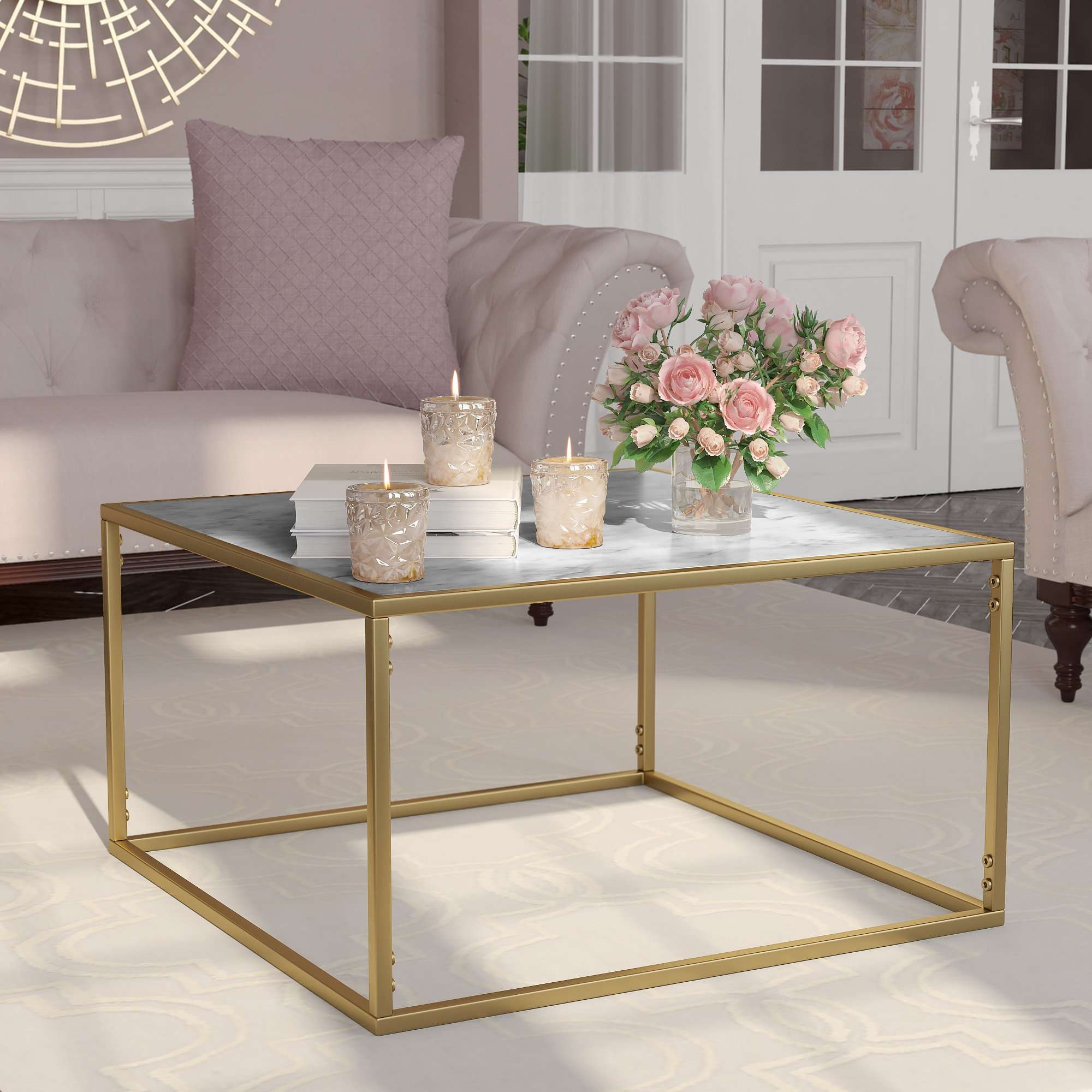 Marble/granite Top Coffee Tables You'll Love (View 8 of 20)