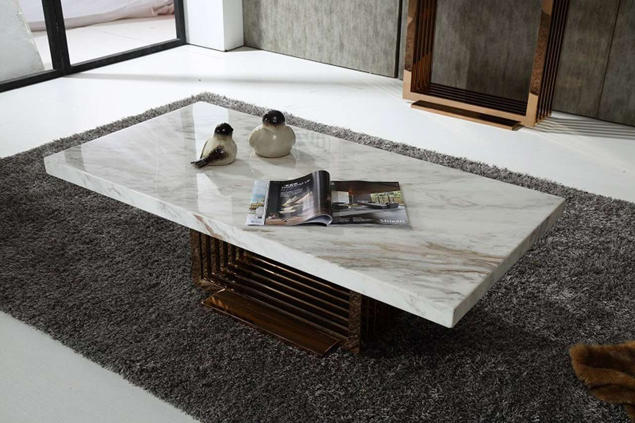 Marble White Coffee Table With Stainless Framework – Chocoaddicts Pertaining To Well Liked White Marble Coffee Tables (View 11 of 20)