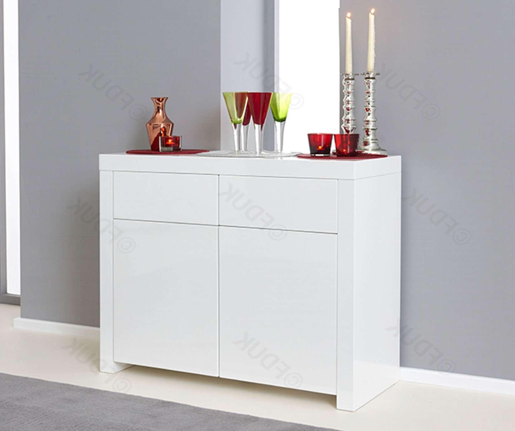 Mark Harris | Hereford 2 Door 2 Drawer White High Gloss Sideboard Regarding High White Gloss Sideboards (View 20 of 20)