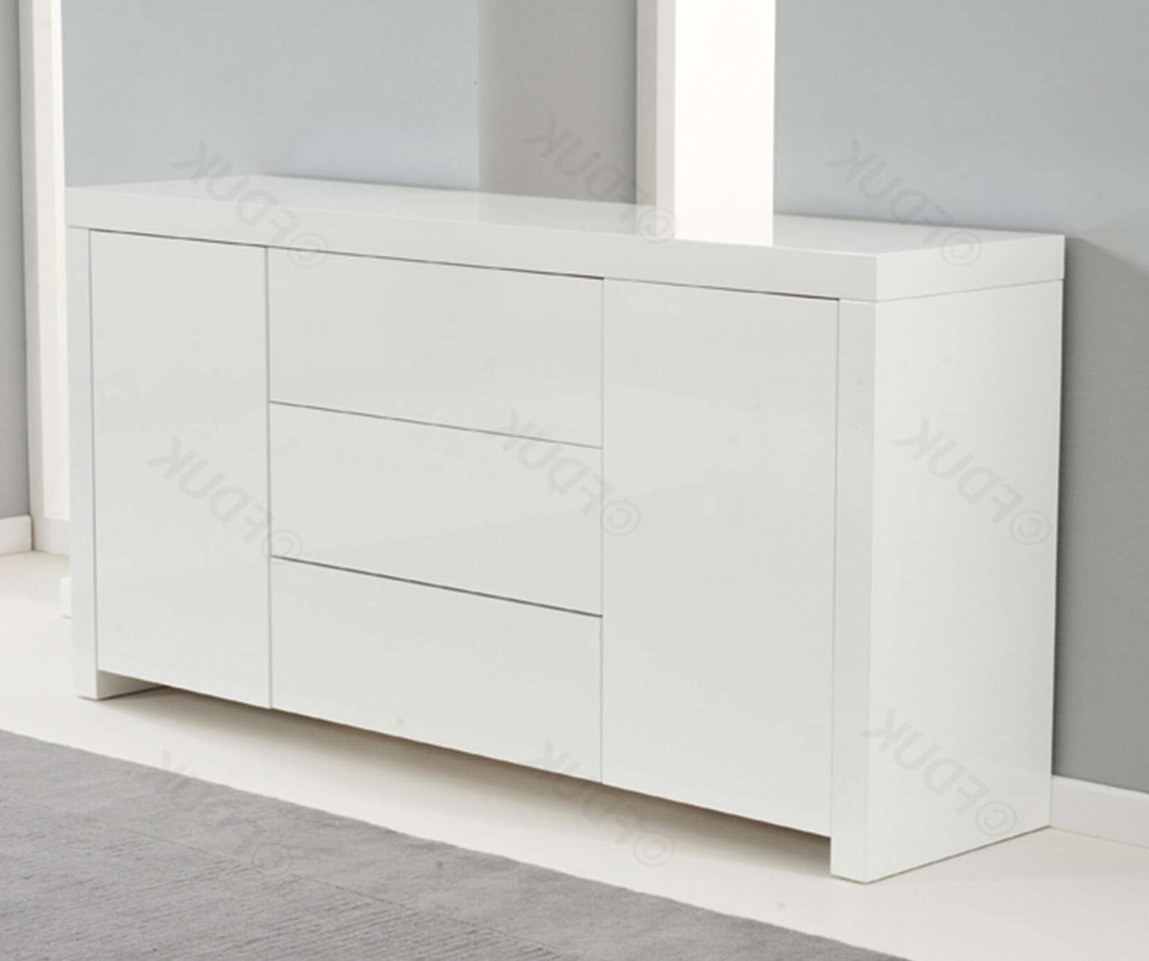 Mark Harris Hereford | Hereford White High Gloss Sideboard Intended For High White Gloss Sideboards (View 13 of 20)