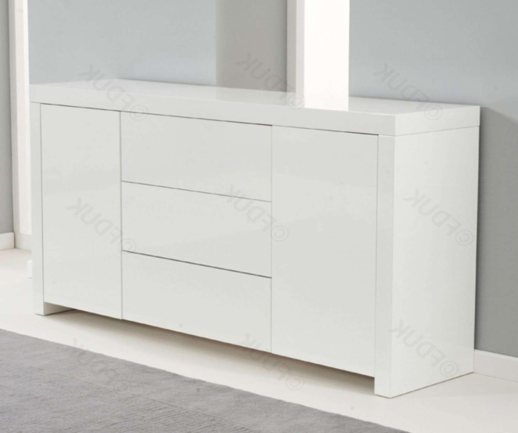 Mark Harris Hereford | Hereford White High Gloss Sideboard Intended For High White Gloss Sideboards (View 2 of 20)