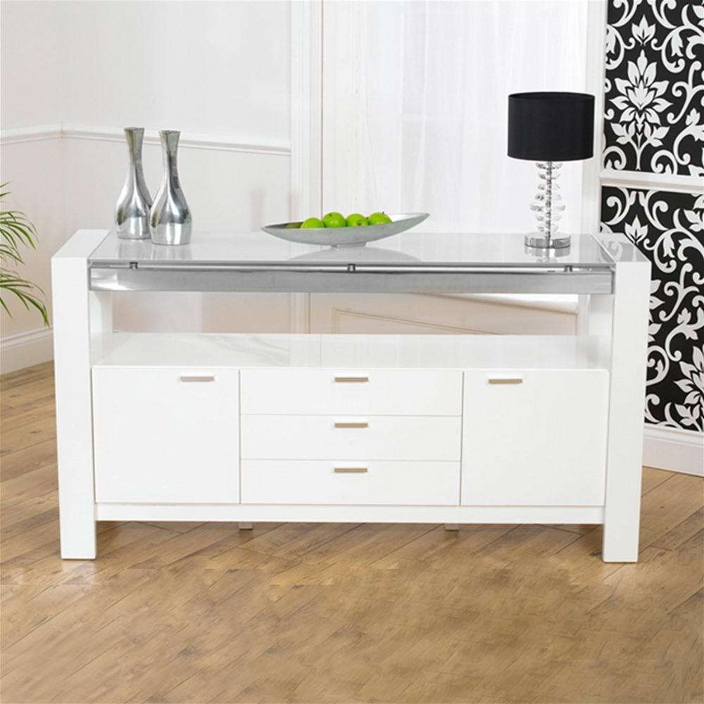 Mark Harris Sophia White High Gloss Sideboard | Internet Gardener Pertaining To White High Gloss Sideboards (View 14 of 20)