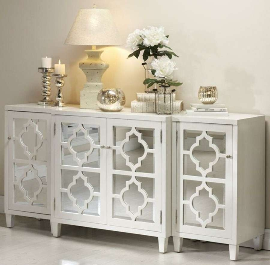 Marvellous Glass Buffet Table Sideboard Tables | Velecio Inside Glass Buffet Table Sideboards (View 3 of 20)