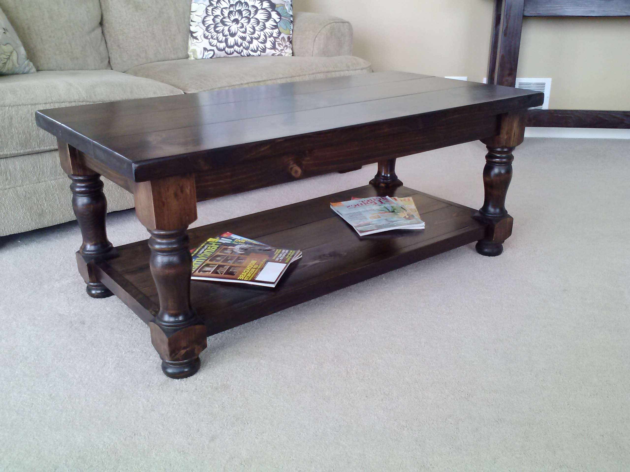 Matching Coffee And End Tables Using The Heritage Table Legs Throughout Trendy Coffee Table With Matching End Tables (View 20 of 20)