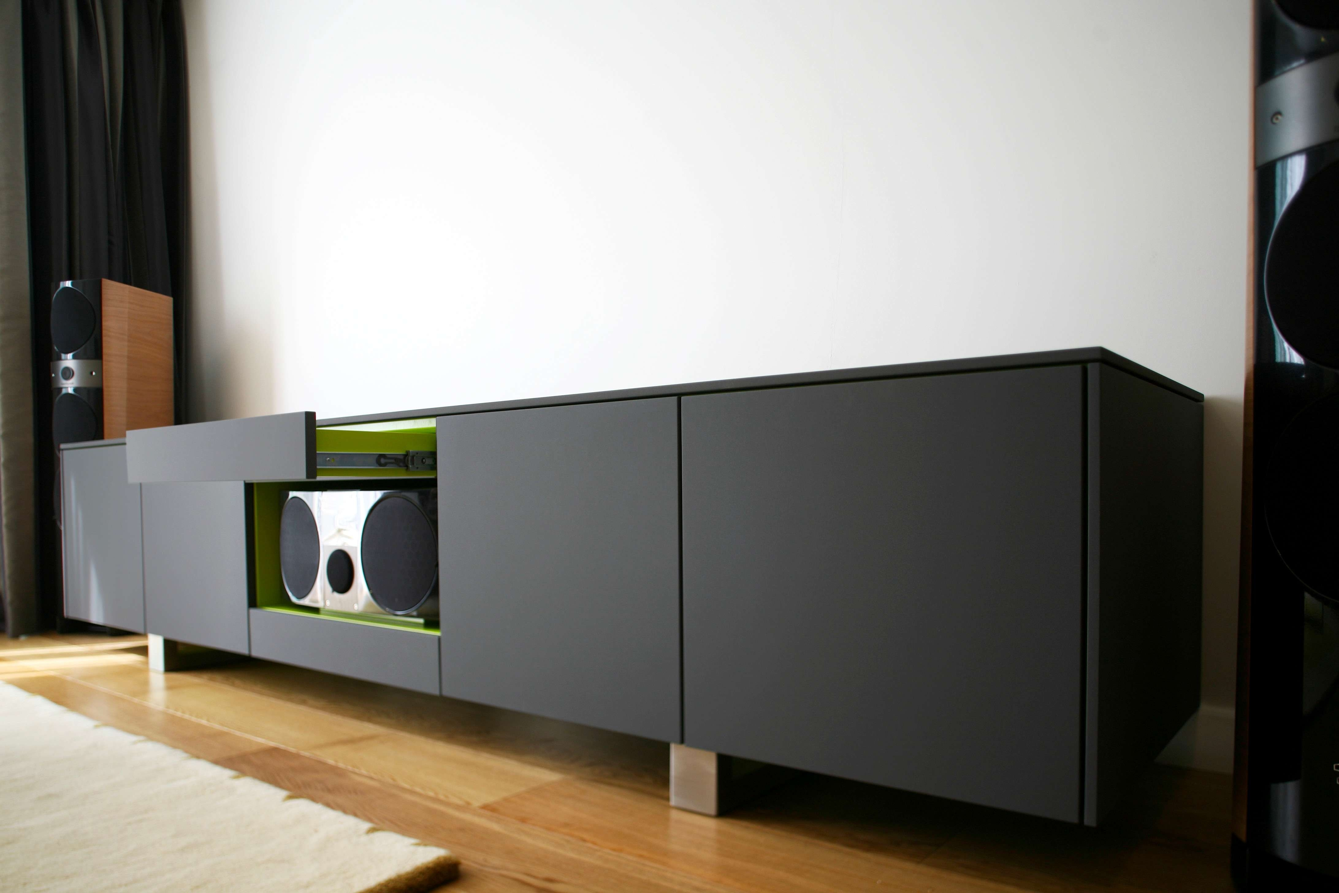 Matte Black Tv Sideboard Hr4 4,368×2,912 Pixels | Media Units With Regard To Tv Sideboards (View 4 of 20)