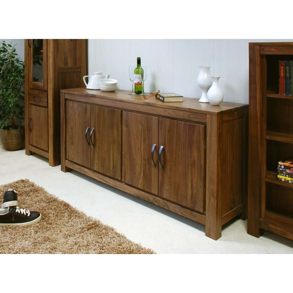 Mayan Large Low Living Dining Room Sideboard Solid Walnut Dark For Dark Brown Sideboards (View 16 of 20)