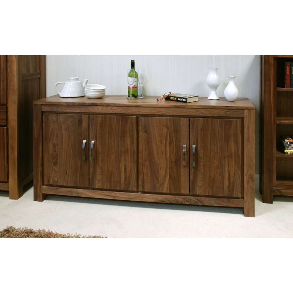 Mayan Large Low Living Dining Room Sideboard Solid Walnut Dark In Wood Sideboards (View 8 of 20)