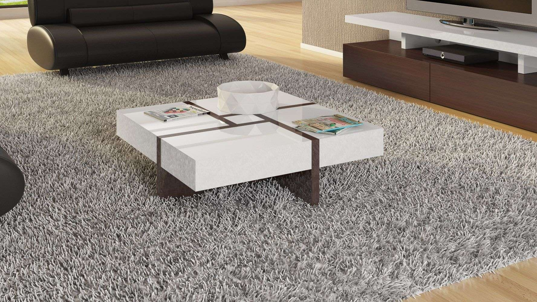 Mcintosh High Gloss Coffee Table With Storage – White Square For Current High Gloss Coffee Tables (View 10 of 20)