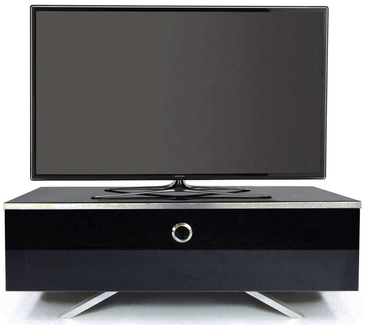 Mda Designs Cubic Hybrid High Gloss Black Tv Stand With Tv Cabinets Black High Gloss (View 13 of 20)
