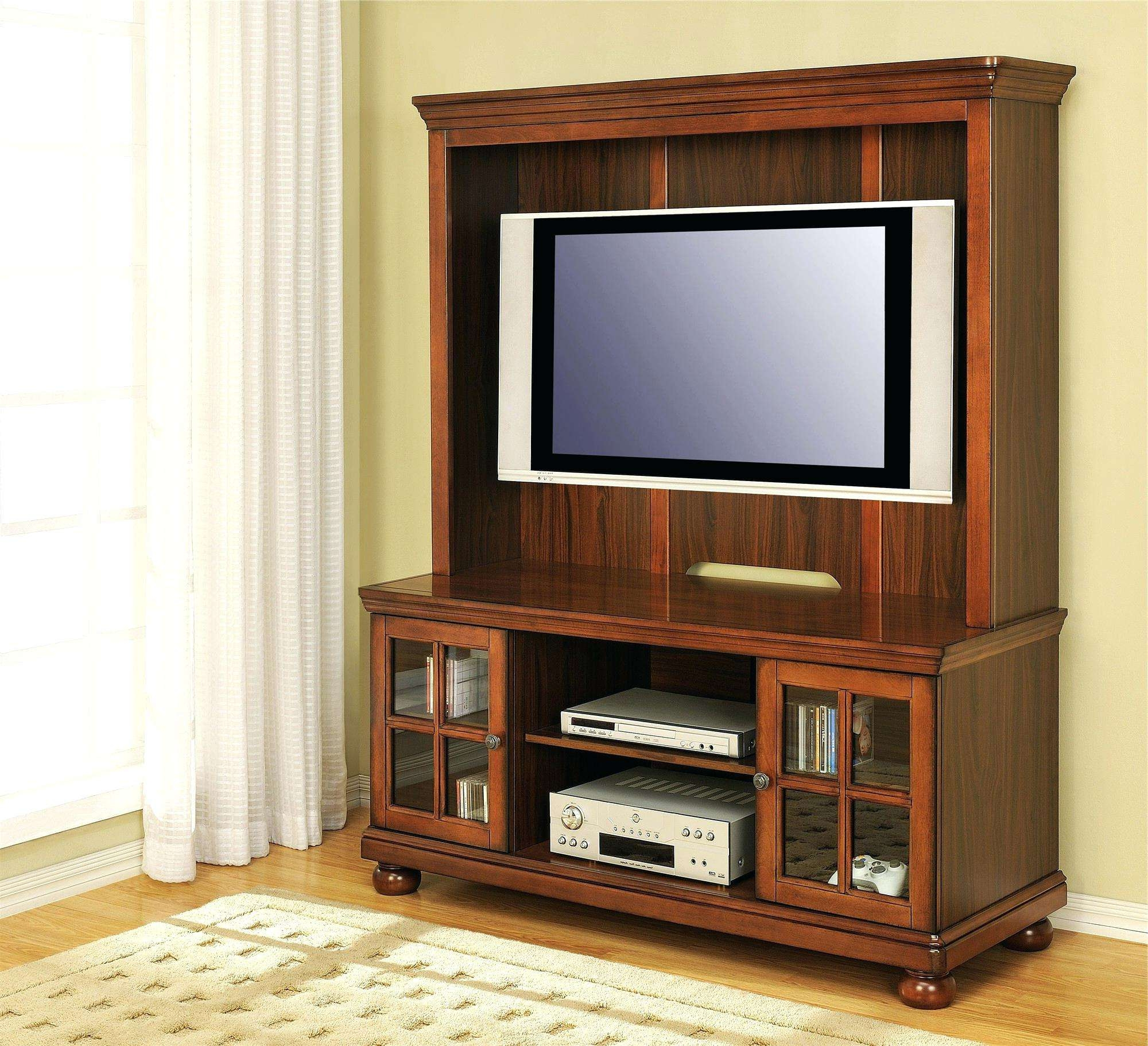 Media Storage Cabinet Sliding Doors Custom Black Glass Oak Door In Cherry Wood Tv Cabinets (View 9 of 20)