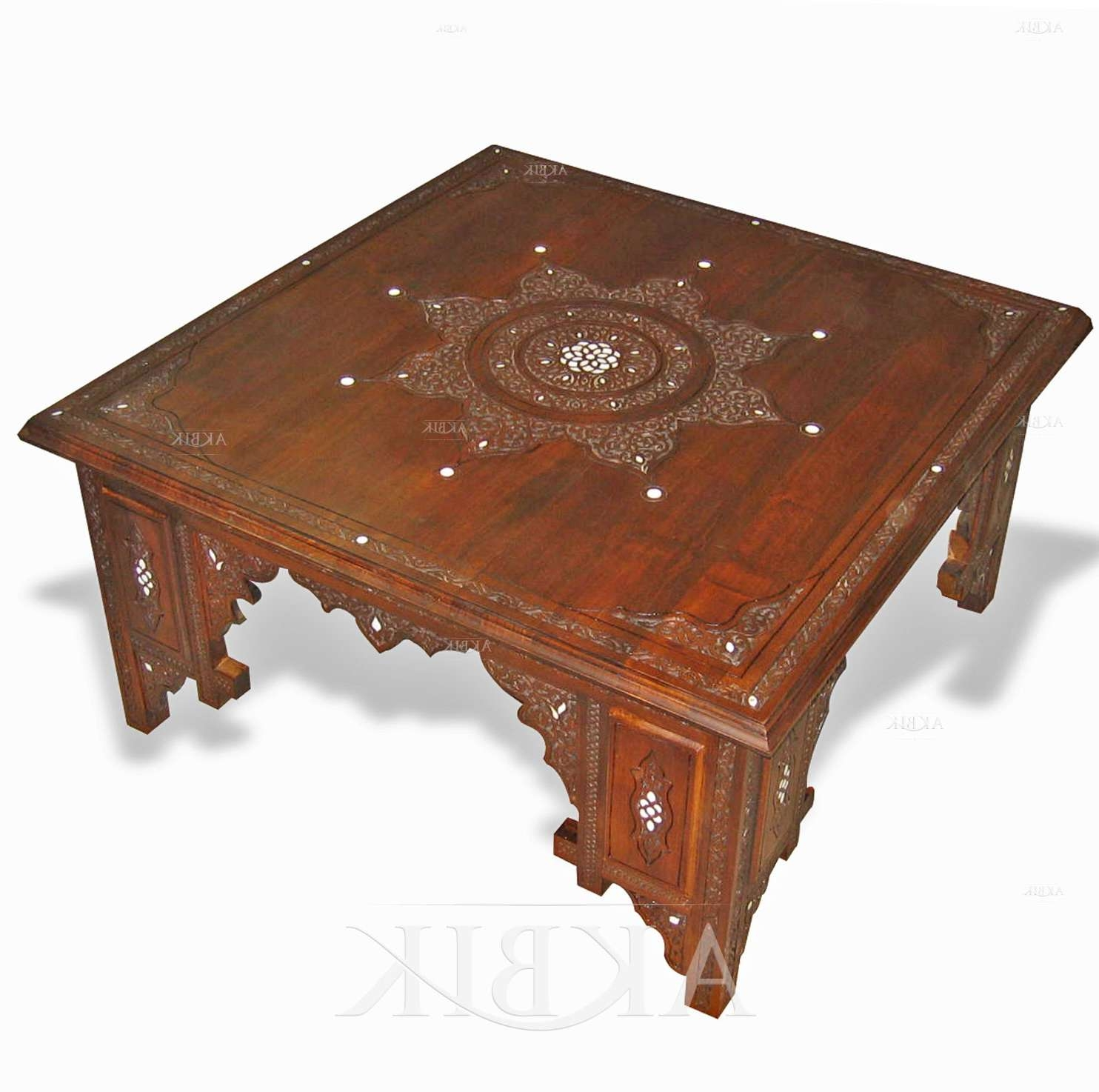 Mediterranean, Levantine & Syrian Furniture Inlaid With Mother Of In Best And Newest Mother Of Pearl Coffee Tables (View 16 of 20)