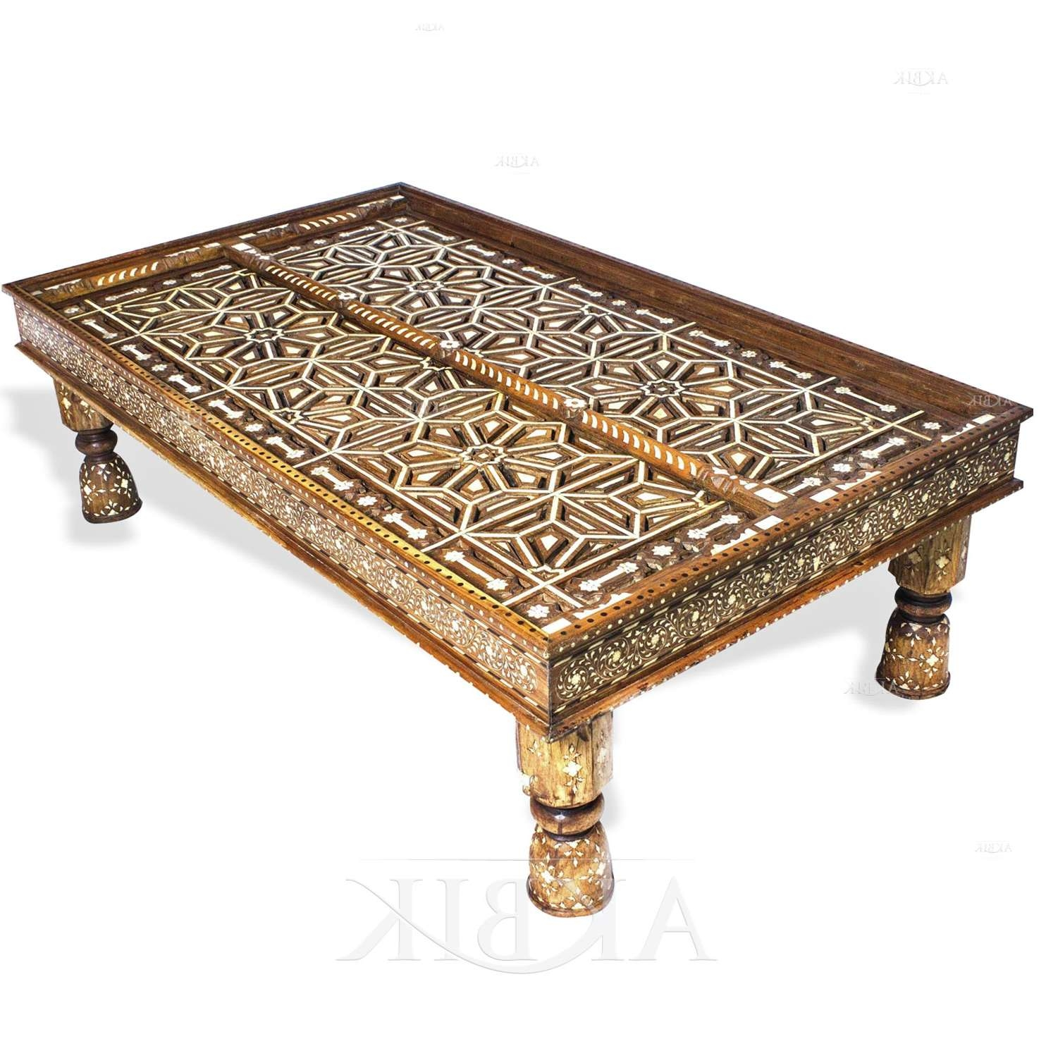 Mediterranean, Levantine & Syrian Furniture Inlaid With Mother Of Within Newest Mother Of Pearl Coffee Tables (View 8 of 20)
