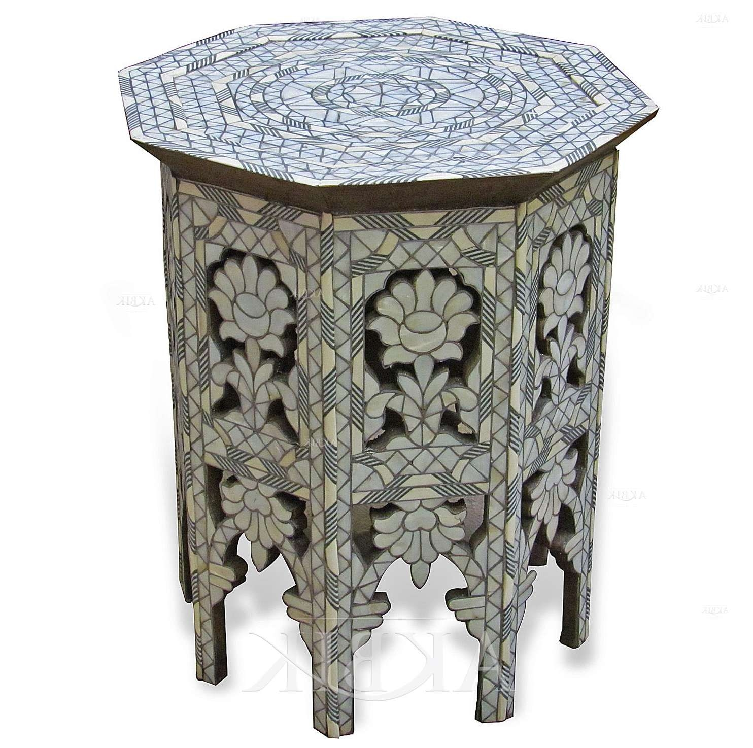 Mediterranean, Levantine & Syrian Furniture Inlaid With Mother Of Within Trendy Mother Of Pearl Coffee Tables (View 9 of 20)