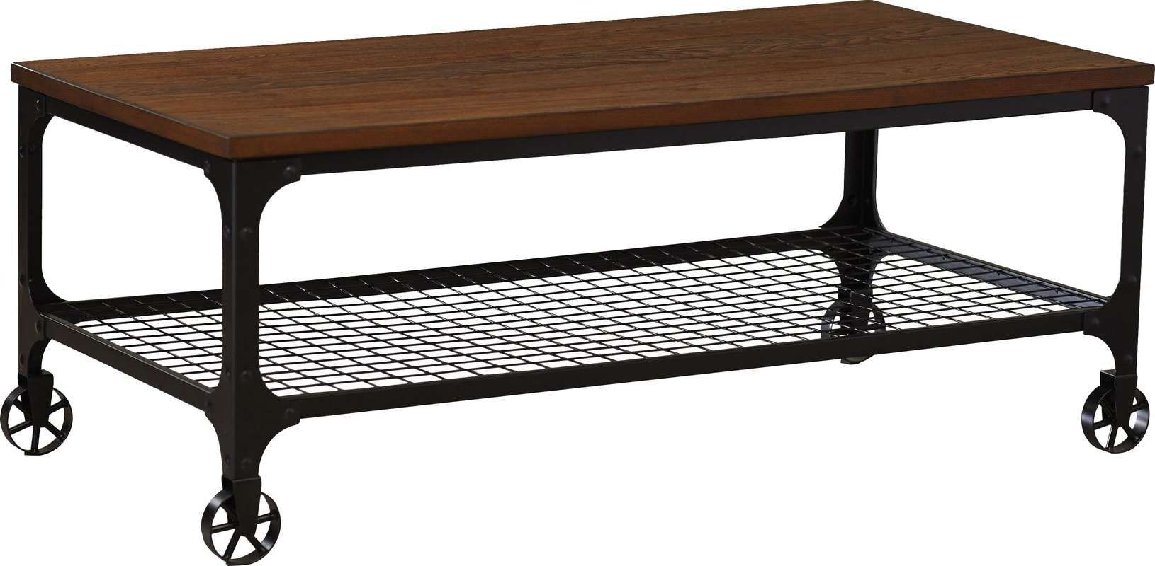 Mercury Row Corvus Rectangle Industrial Coffee Table & Reviews For Fashionable Industrial Coffee Tables (View 3 of 20)
