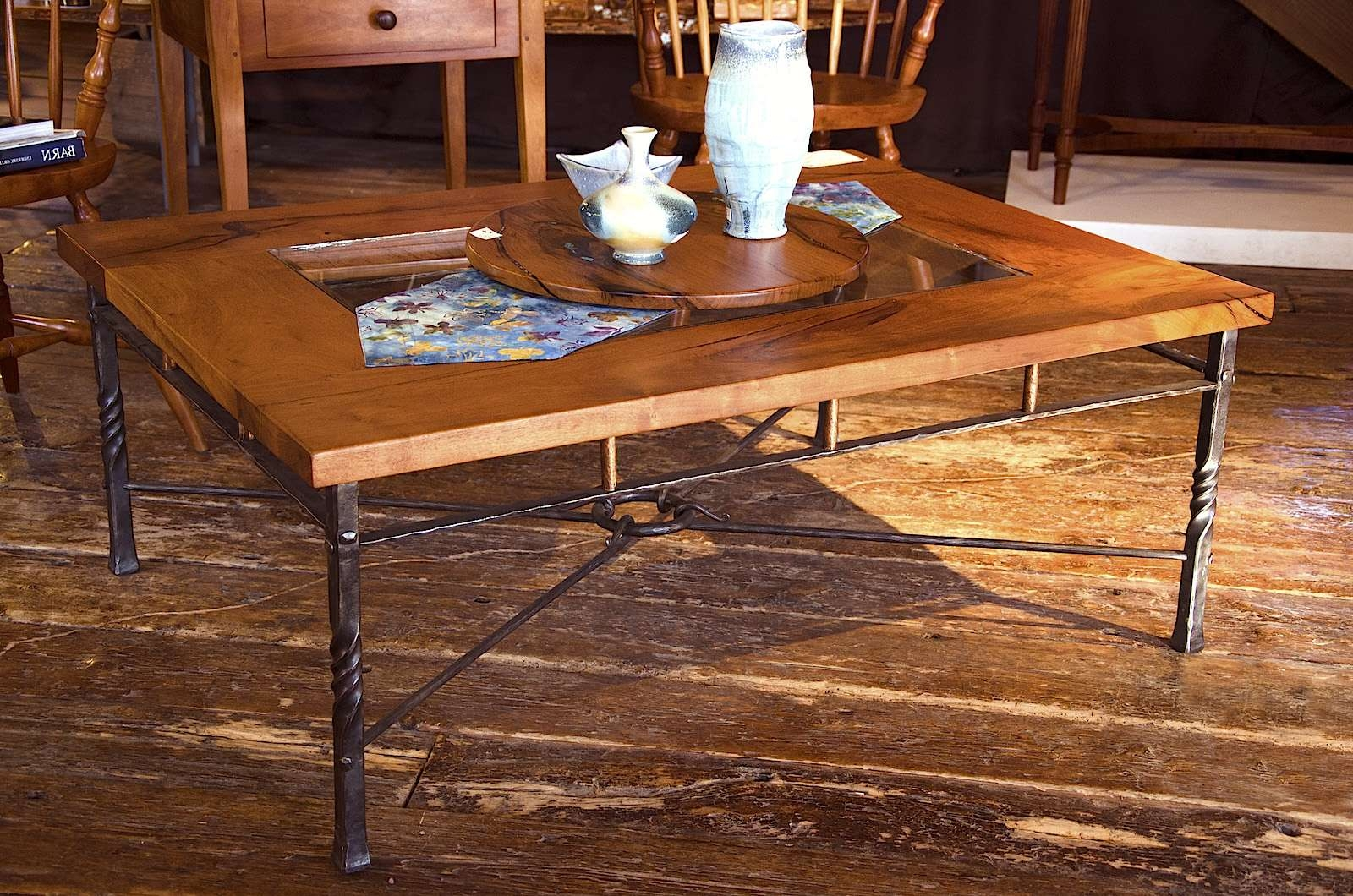 Mesquite And Wrought Iron Coffee Table, Mesquite Coffee Table With Throughout Famous Wrought Iron Coffee Tables (View 8 of 20)