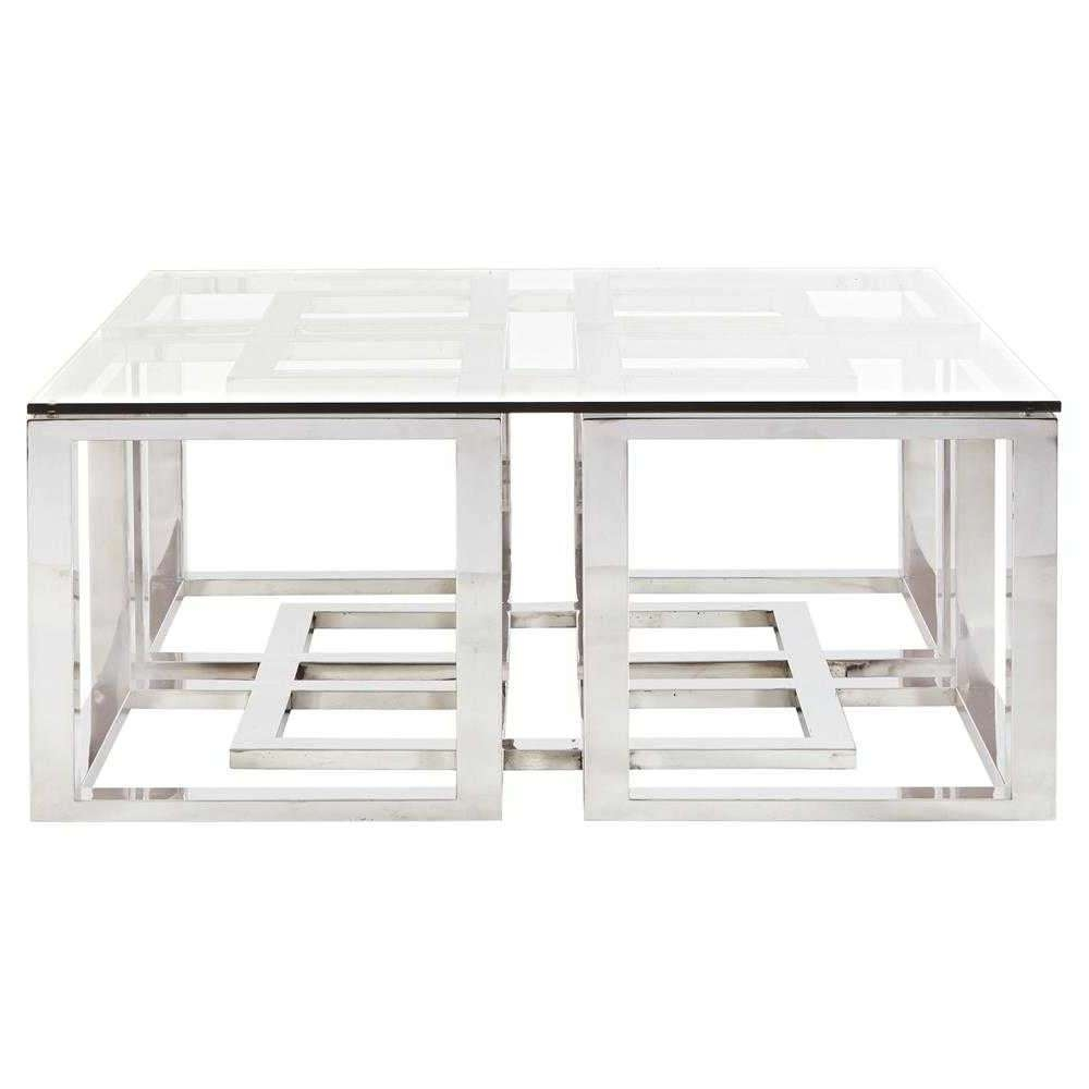 Metal Glass Coffee Table (View 17 of 20)