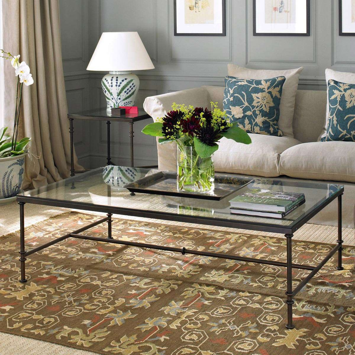 Metal & Glass Coffee Tables – Durable Metal Frame Finish, Clear Regarding Current Coffee Tables Metal And Glass (View 13 of 20)