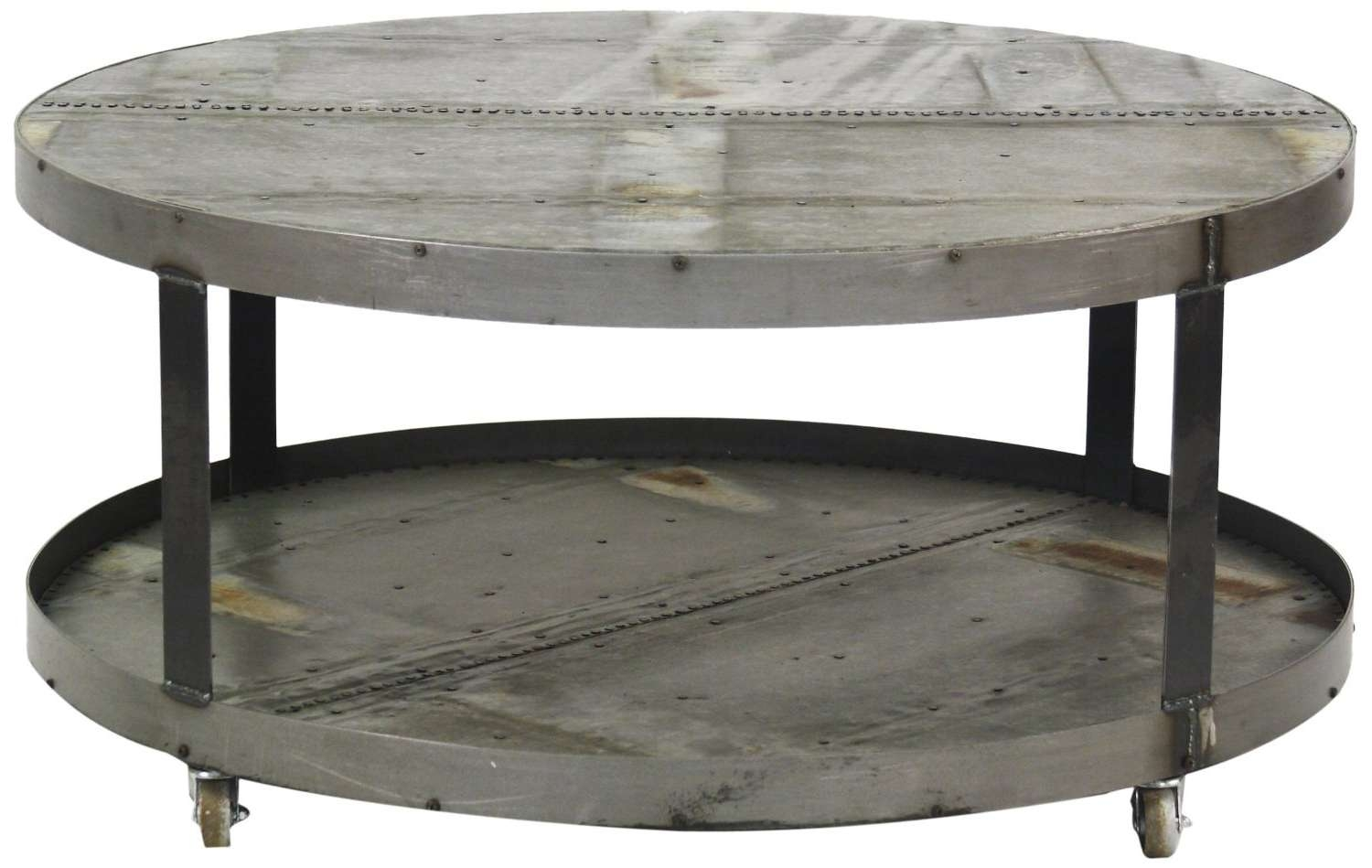Metal Round Coffee Table Base Only Portable Round Metal Coffee Pertaining To Best And Newest Metal Round Coffee Tables (View 3 of 20)