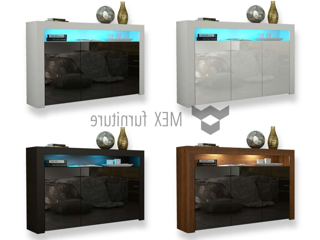 Mex Furniture » Sideboard Tv Cabinet [101] Throughout Uk Gloss Sideboards (View 9 of 20)