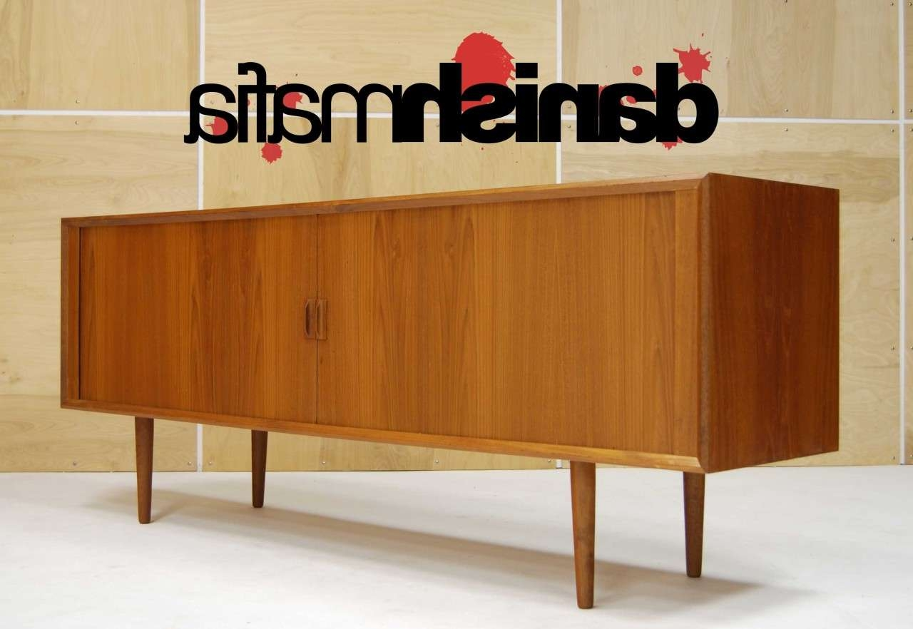 Mid Century Danish Modern Designer Teak Credenza Svend Larsen Inside Mid Century Modern Sideboards (View 13 of 20)