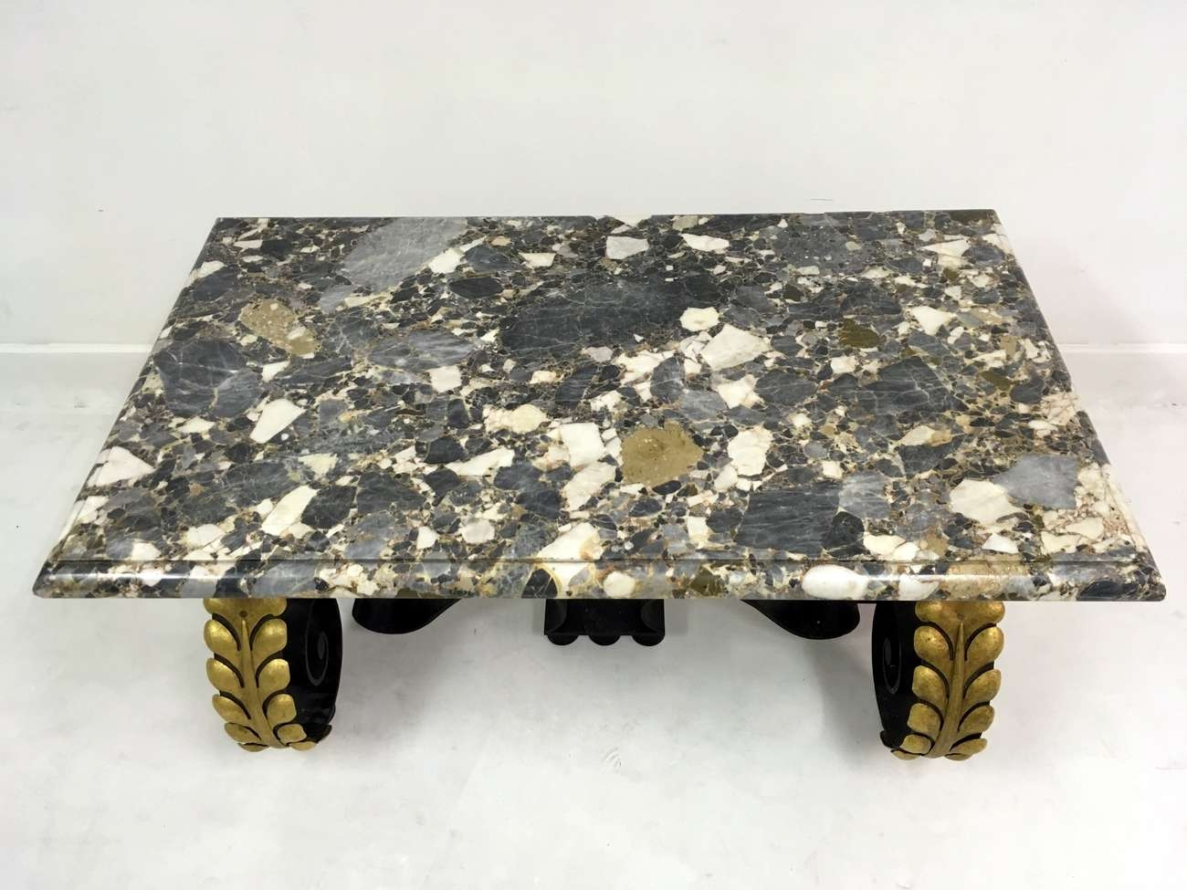 Mid Century French Metal And Marble Coffee Table For Sale At Pamono Throughout Well Known Marble And Metal Coffee Tables (View 8 of 20)