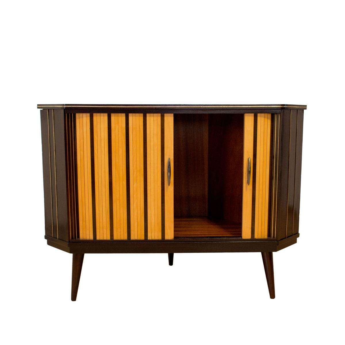 Mid Century German Corner Sideboard With Shutter Doors For Sale At Throughout Corner Sideboards (View 6 of 20)