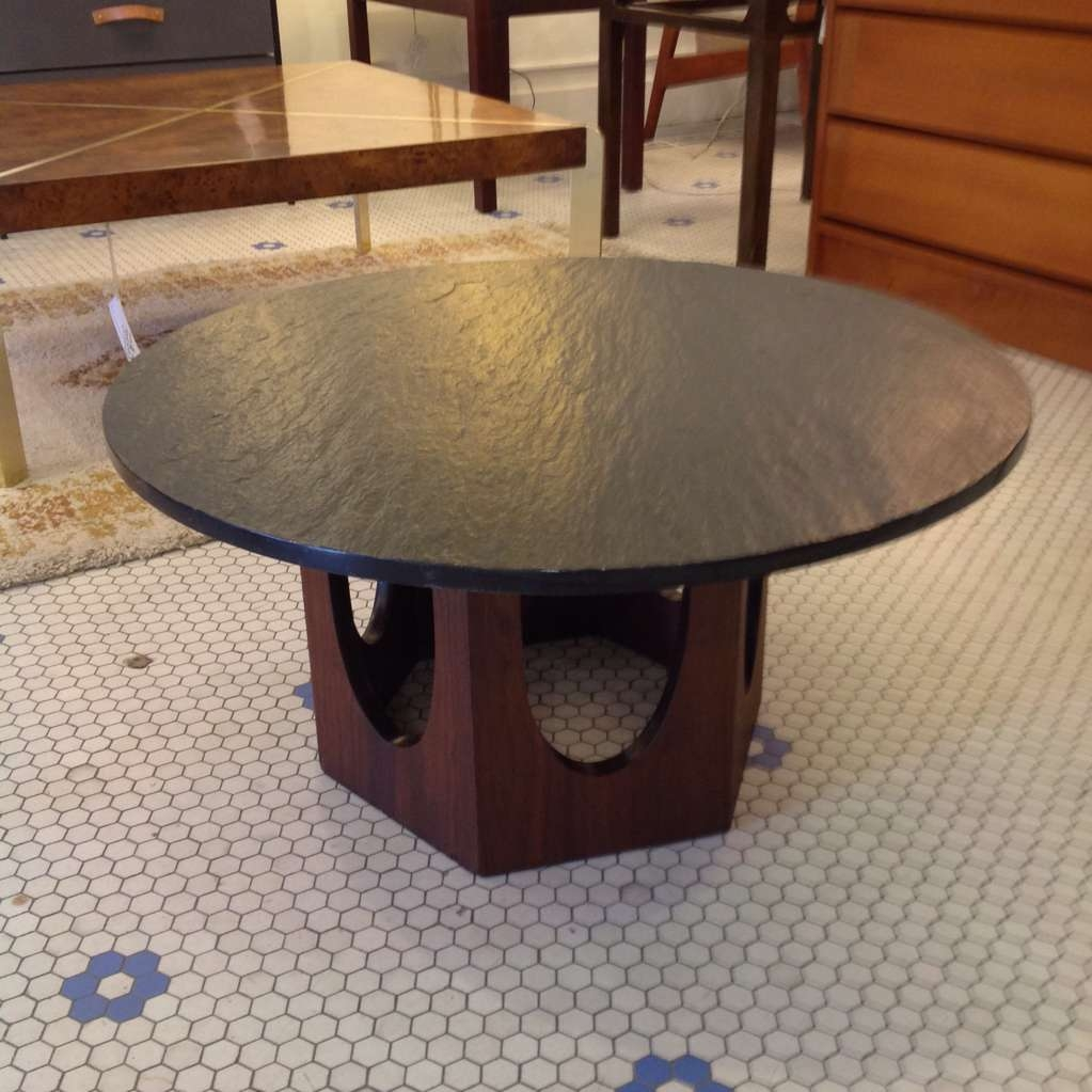 Mid Century Harvey Probber Slate Top Coffee Table (View 12 of 20)