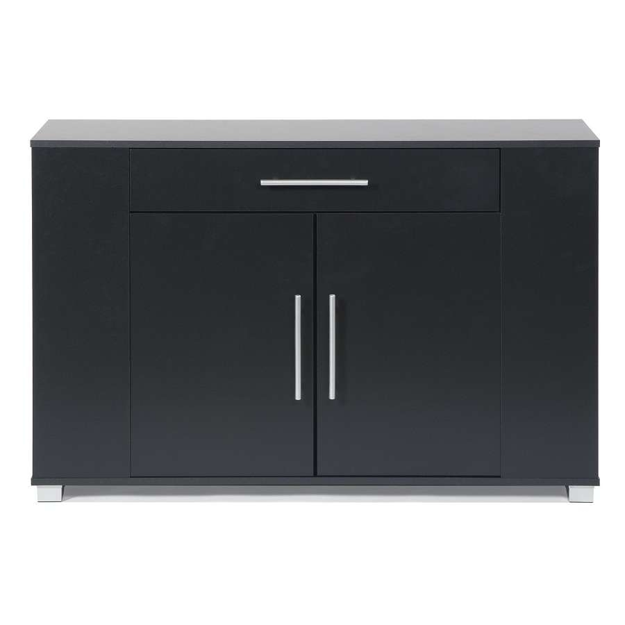 Mid Century Mirrored Sideboard — All About Home Design Inside Black And Silver Sideboards (View 6 of 20)