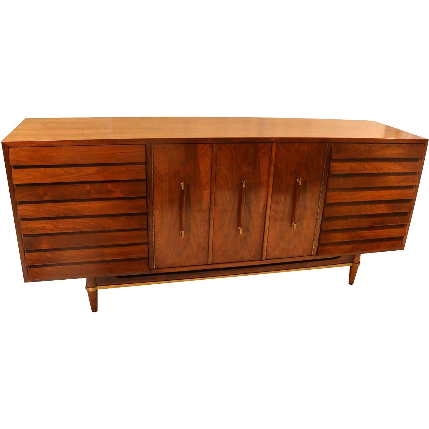 Mid Century Modern American Of Martinsville Dania Collection In Dania Sideboards (View 8 of 20)