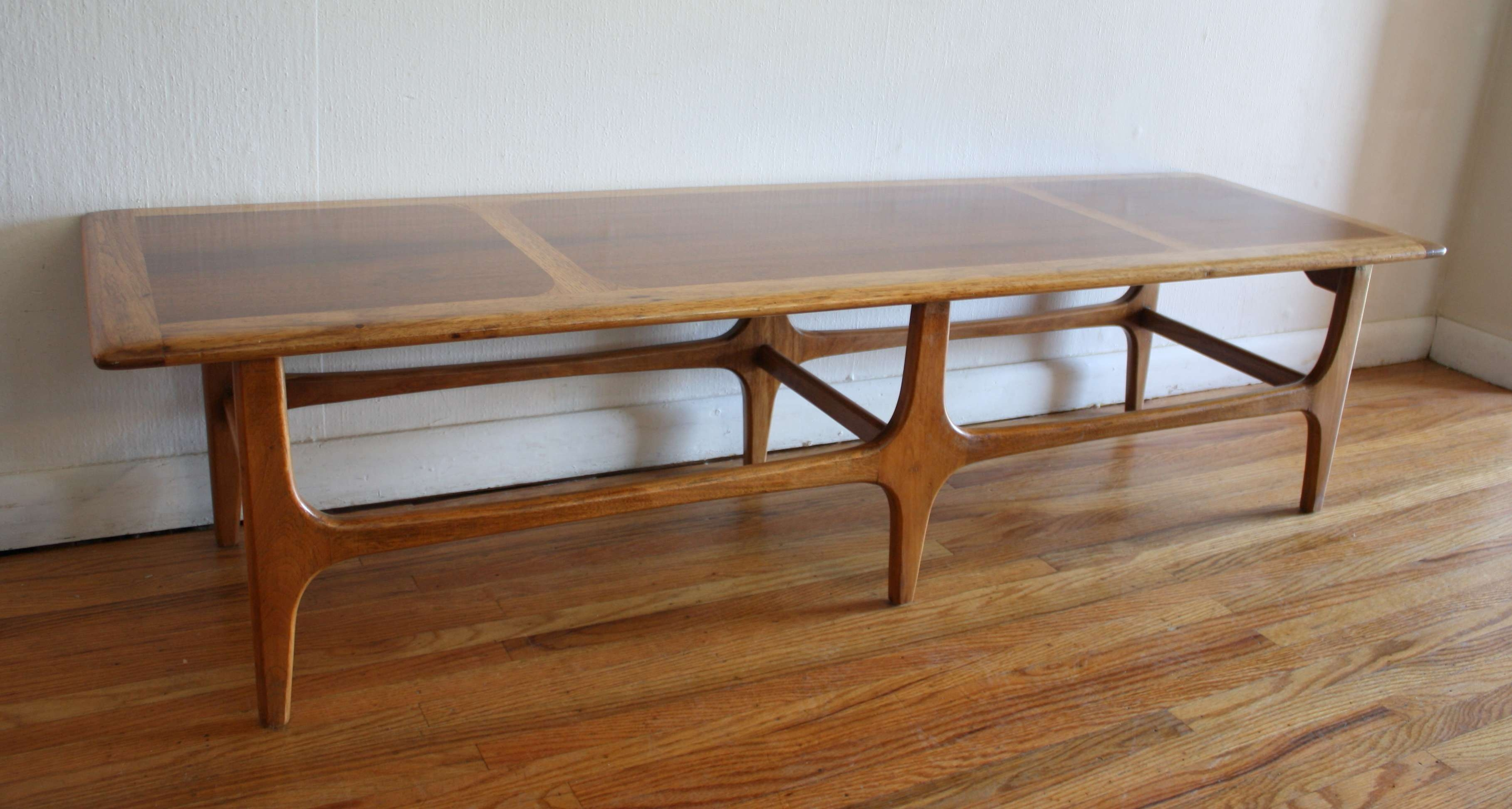Mid Century Modern Coffee Table With Sculpted Base (View 13 of 20)