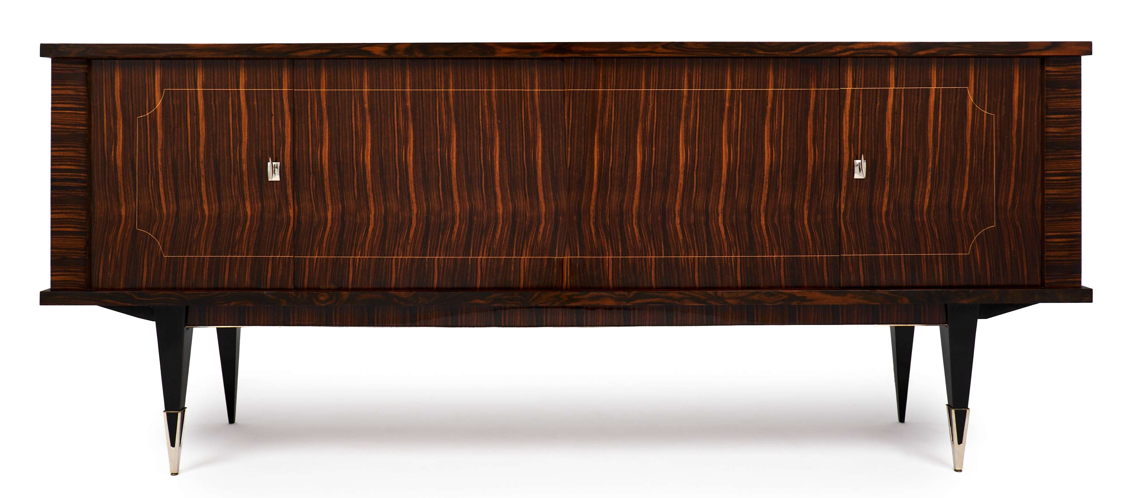 Mid Century Modern French Macassar Sideboard – Jean Marc Fray Inside Mid Century Modern Sideboards (View 12 of 20)