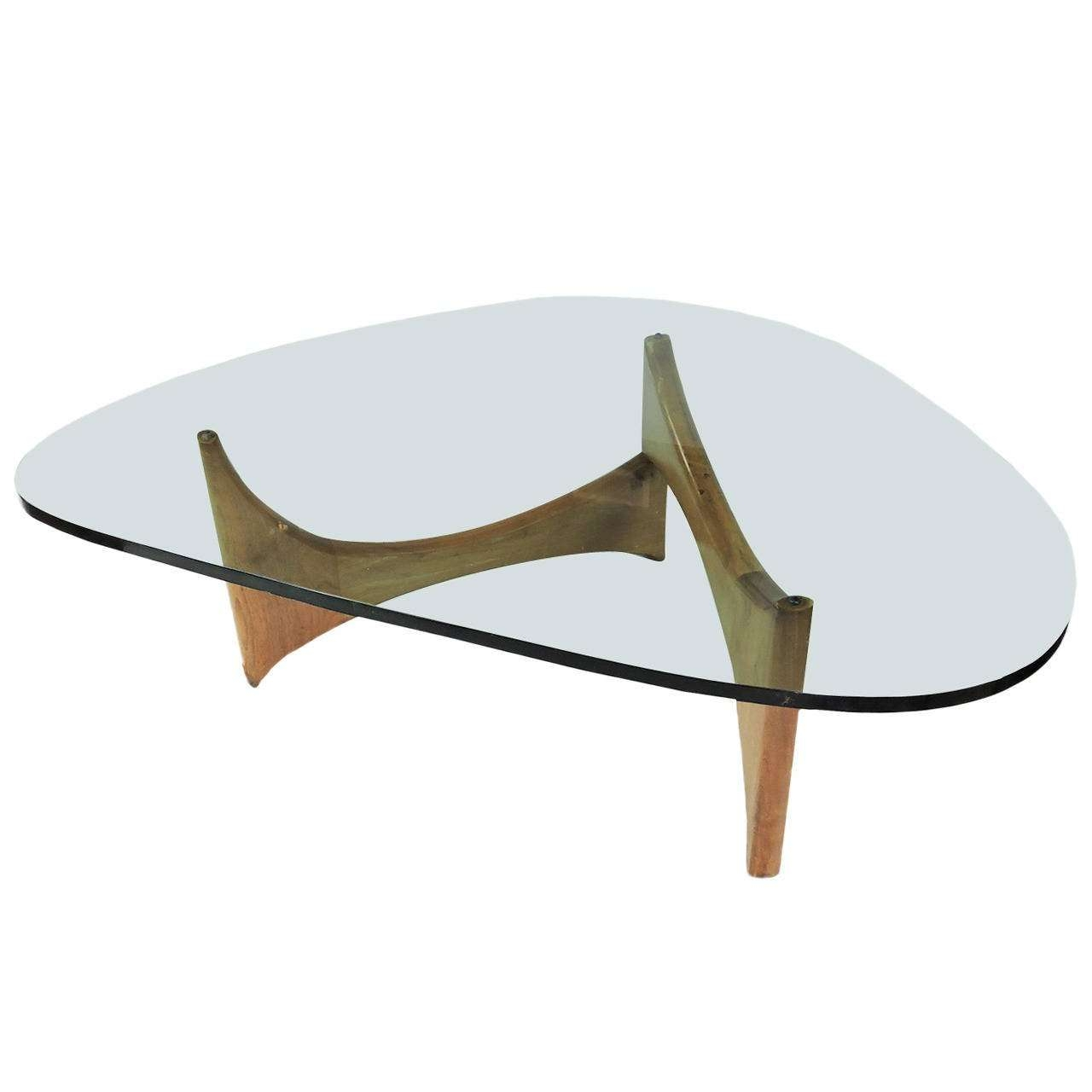 Mid Century Modern Glass And Wood Coffee Table At 1Stdibs With Regard To 2018 Modern Glass Coffee Tables (View 12 of 20)