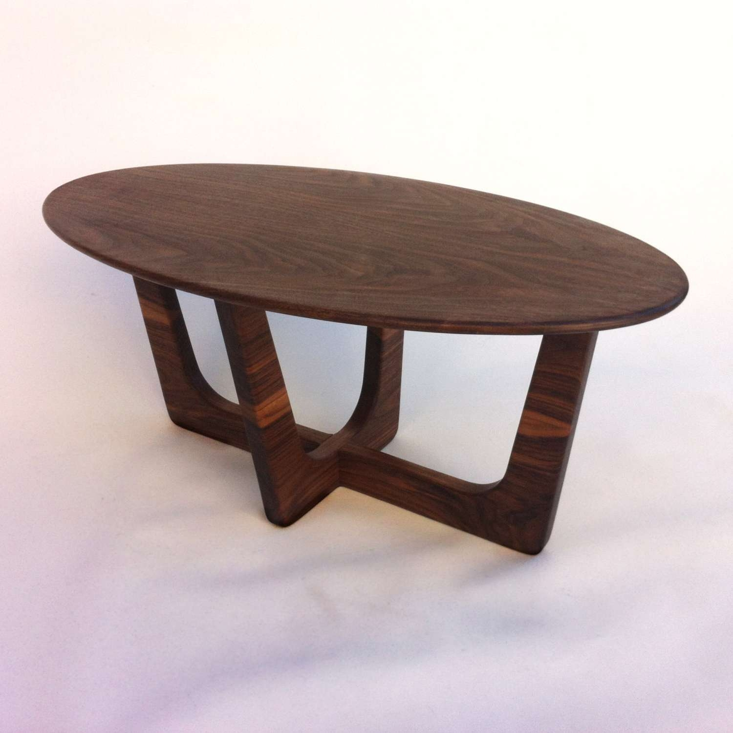 Mid Century Modern Oval Coffee Table Adrian Pearsall Inside Recent Oblong Coffee Tables (View 13 of 20)