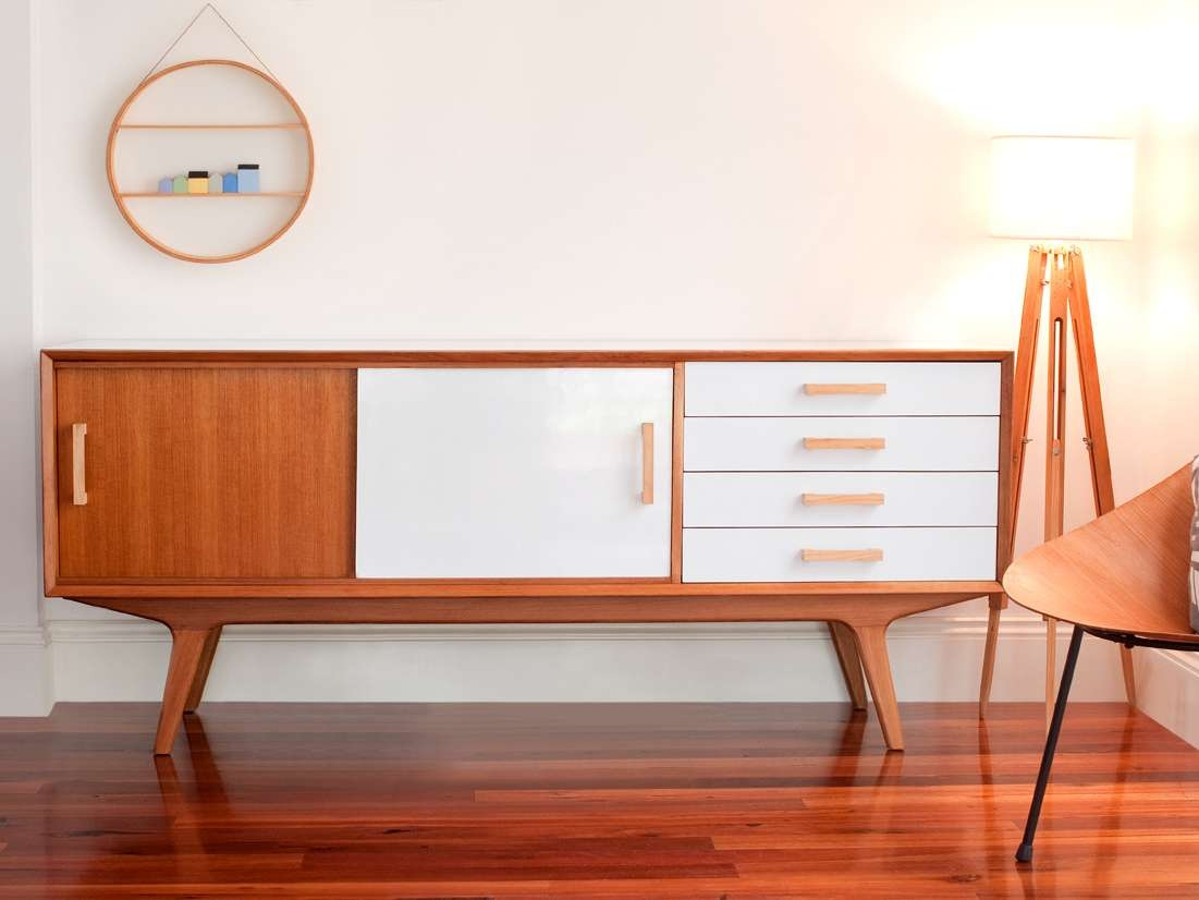 Mid Century Modern Sideboard White : Fascinating Mid Century Pertaining To Mid Century Modern Sideboards (View 10 of 20)