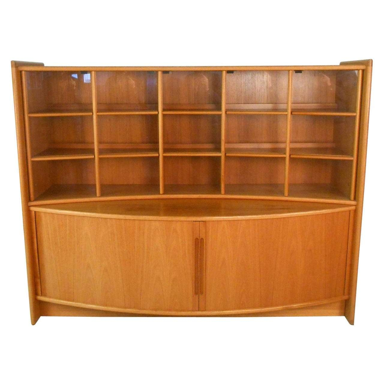 Mid Century Modern Teak Tambour Sideboard And Display For Throughout Mid Century Modern Sideboards (View 16 of 20)