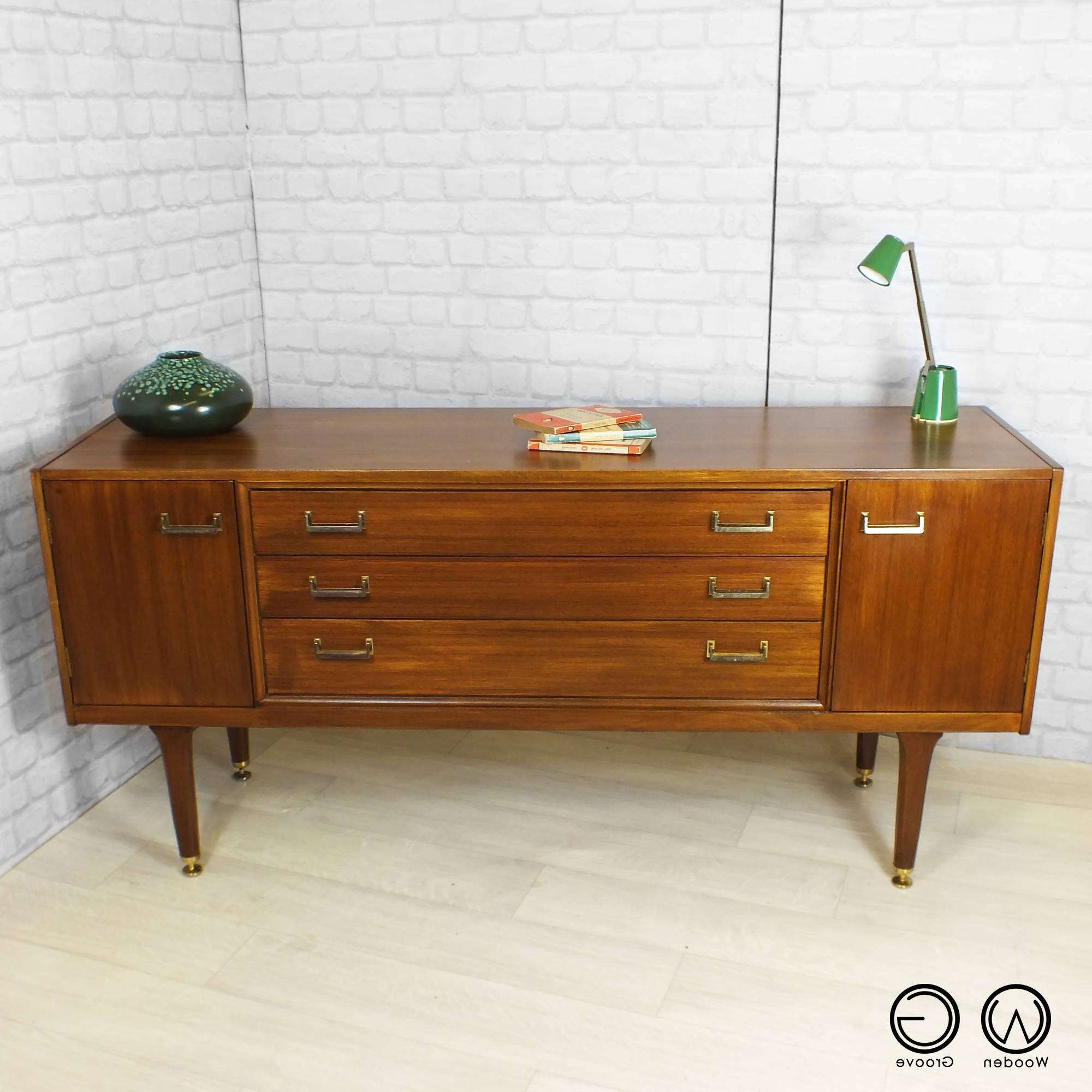 Mid Century Retro Vintage Danish Teak E Gomme Gplan Gold Label Intended For Scandinavian Sideboards (View 4 of 20)